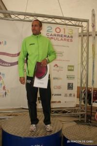 En la imagen Juan Francisco Guerrero Castro en lo más alto del podio de su categoria.