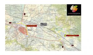 Mapa trial Los Pandos