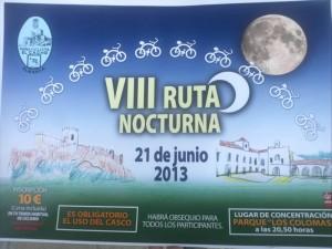 Cartel Ruta Nocturna