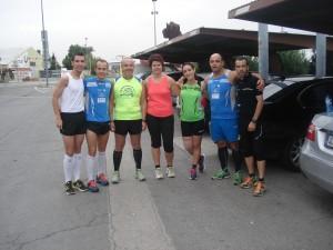 En la foto aparecen algunos miembros de los que se han dado cita esta mañana para entrenar