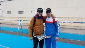 Los dos almanseños tuvieron una buena actuación en el pimer Duatlon de la temporada. (FOTO: Miguel Ángel Villaescusa)