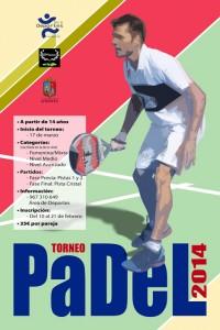 Cartel del Torneo Local de Padel 2014