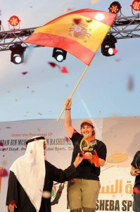 """Beatriz plantó su bandera en Dubái y se convirtió en """"La Reina de Nad Al Sheba"""". (FOTO: Nicola Heron)"""