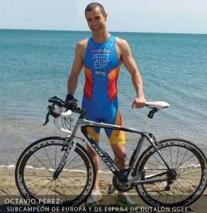 Sub-Campeón de Europa y del Mundo, Octavio Pérez también estará en Almansa. (FOTO: Club Triatlón Almansa)