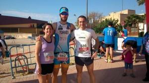Jorge y Alberto participaron en la prueba de 10 km, mientras que Raquel Torres lo hizo en la de 5 km.
