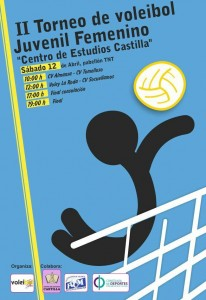 Cartel Torneo Voley-La Roda