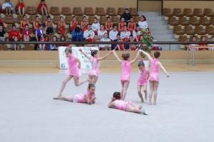 Las pequeñas gimnastas hicieron las delicias del público.