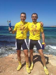 Los vencedores en la competición por parejas de la Vuelta a Ibiza (Master-40)