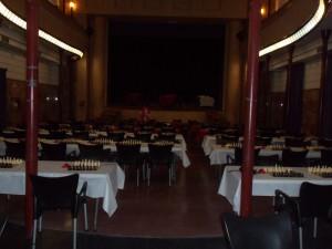 El escenario del Torneo será el Teatro Principal. Así está quedando la Sala de Juego.