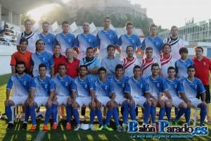 Antes del partido, foto oficial de la U.D.Almansa 2014-2015