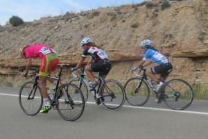 Andrea Ponce en la Vuelta al Bajo Aragón. (FOTO: Club Ciclista Caspolino)
