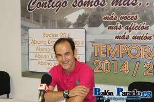 Sergio Inclán estaba satisfecho con el resultado y el esfuerzo de los jugadores.