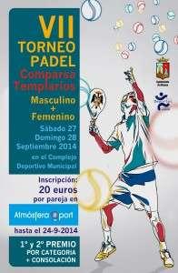cartel padel templar 2014