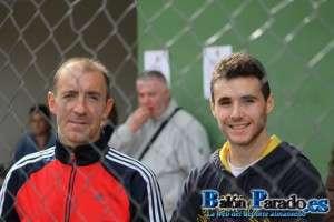 Alfon con su nuevo entrenador, José Fernando Rubio