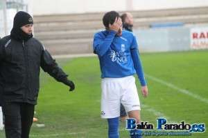 Luis Gorreta se retiró lesionado.