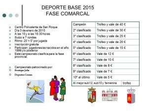 DEPORTE BASE COMARCAL2015