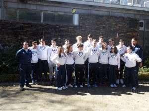 El equipo del Club Natación Almansa en Talavera de la Reina.