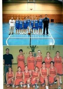 Foto superior: equipo juvenil. Foto inferior: equipo senior 2002-2003