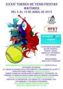 Cartel Torneo Fiestas Mayores 2015