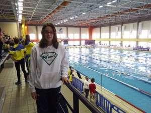 Noelia disfrutó de la experiencia en la piscina gaditana