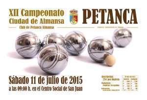 Cartel XII Campeonato de Petanca 2015
