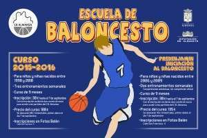 Cartel Escuela de Baloncesto correo