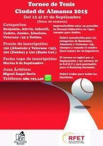 Torneo de Tenis Ciudad de Almansa 2015